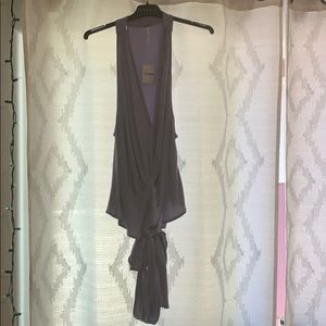 Free People lilac wrap top